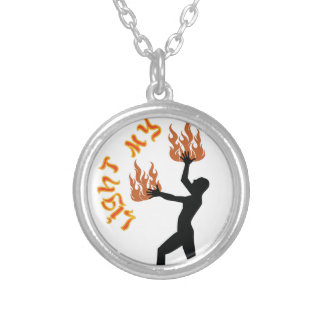 Light My Fire Silver Plated Necklace