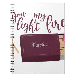 Light My Fire Spiral Notebook