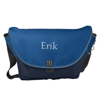 Light Navy Blue Customizable Courier Bag