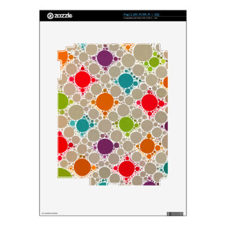 Light & Neon Modern Polka Dots Decals For iPad 2