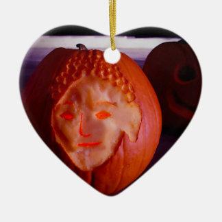 Light of Amida Pumpkin Ceramic Ornament