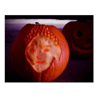 Light of Amida Pumpkin Postcard