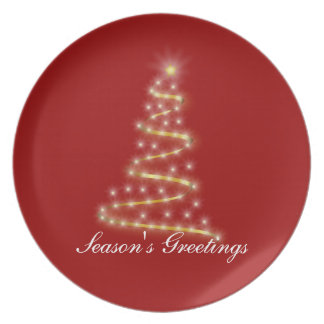 Light of Christmas Party Plate