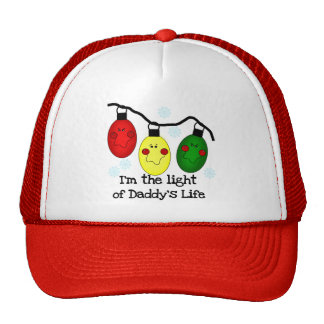 Light of Daddy's Life Holiday Tshirts and Gifts Trucker Hats