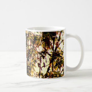 Light of Dawn thru Maple Leaves and Flowers Coffee Mug