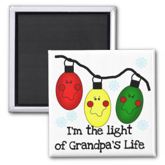 Light of Grandpa's Life Holiday Tshirts and Gifts Refrigerator Magnets