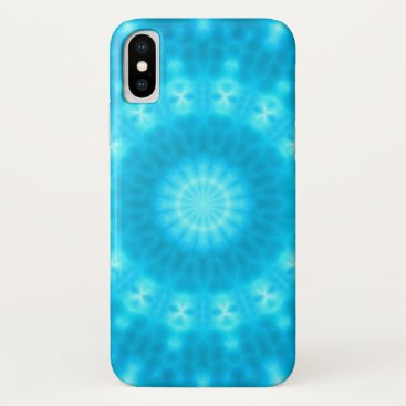 Light of Hope Mandala (blue pool) iPhone XS Case