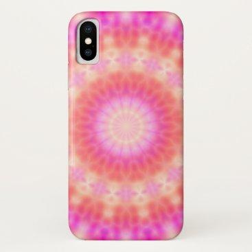 Light of Hope Mandala (sunny pink and orange) iPhone XS Case