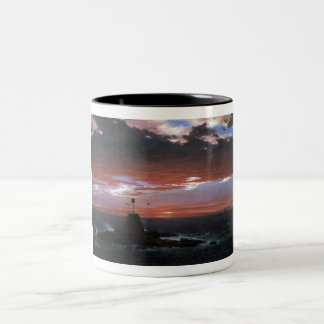 Light, of Mount Desert from Iceland by Church Two-Tone Coffee Mug