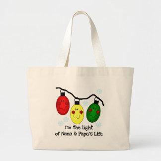 Light of Nana and Papa's Life Tshirts and Gifts Tote Bag