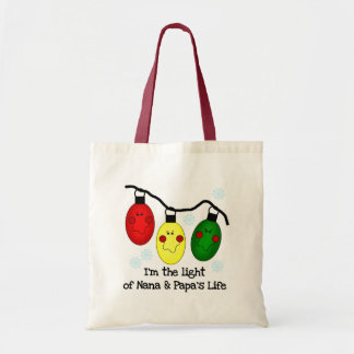 Light of Nana and Papa's Life Tshirts and Gifts Canvas Bags