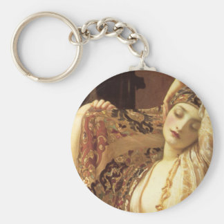 Light of the Harem - Lord Frederick Leighton Basic Round Button Keychain