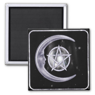 Light of the Moon WICCA New Age 2 Inch Square Magnet