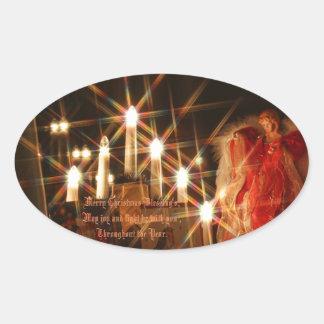 Light of the Season Oval Sticker