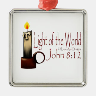Light of the World (White) Metal Ornament