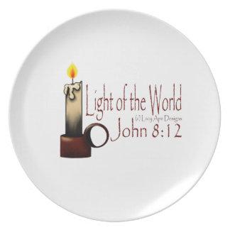 Light of the World White Plates