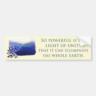 Light of Unity Car Bumper Sticker