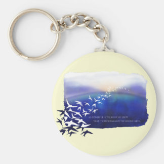 Light of Unity Basic Round Button Keychain