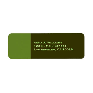 light olive green color label