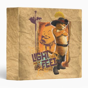 Light On My Feet 3 Ring Binder by pussinboots at Zazzle