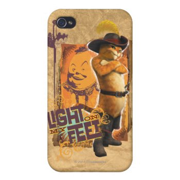 Light On My Feet Iphone 4 Case by pussinboots at Zazzle