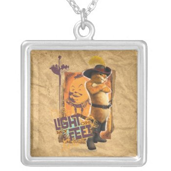 Light On My Feet Silver Plated Necklace by pussinboots at Zazzle