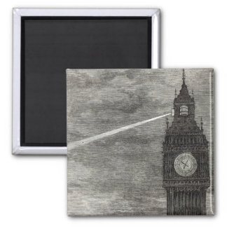 Light on the Clock Tower, Houses of Parliament Magnet