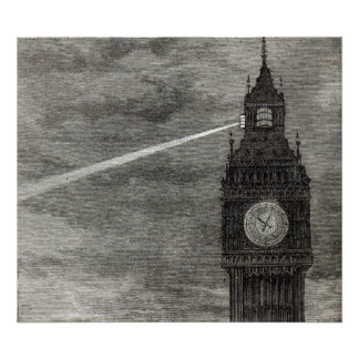 Light on the Clock Tower, Houses of Parliament Poster