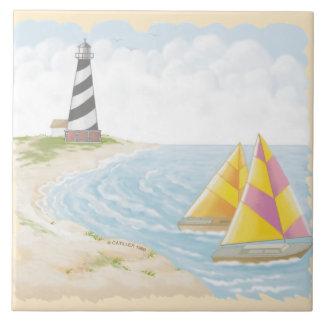 Light One Lighthouse Ceramic Tile