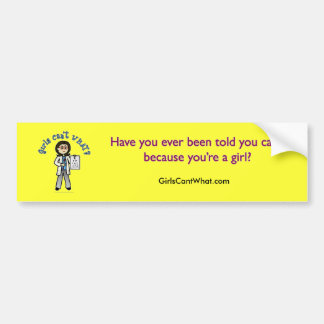 Light Optometrist Girl Car Bumper Sticker