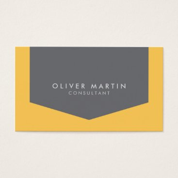 Lawyer Themed Light Orange and Grey Modern Professional Business Card