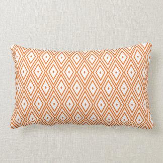 Light Orange and White Diamonds Throw Pillows