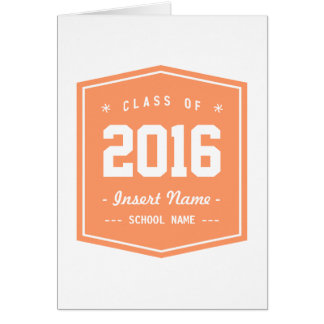 Light Orange Cool Class Stationery Note Card