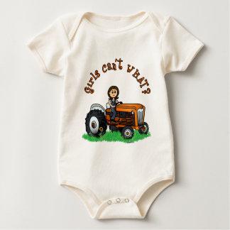 Light Orange Farmer Baby Bodysuit