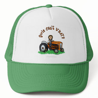 Light Orange Farmer Trucker Hat