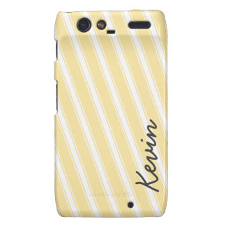 Light Orange Pattern Stripes Droid RAZR Cell Case Droid RAZR Cover