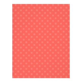 "Light orange polka dots 8.5"" x 11"" flyer"