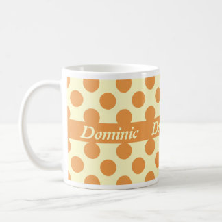 Light Orange Polka Dots Personalized Mugs
