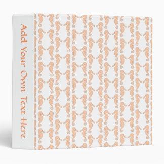 Light Orange Seahorse Pattern Binder