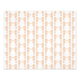 Light Orange Seahorse Pattern Flyer