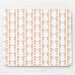 Light Orange Seahorse Pattern Mouse Pads