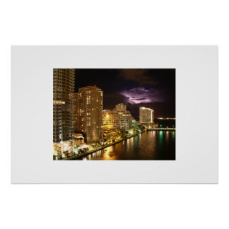 Light over Miami Poster
