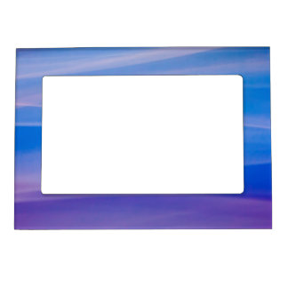 Light painting abstract color trails magnetic photo frame