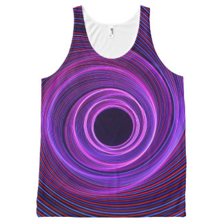 Light painting circle photography art work All-Over-Print tank top