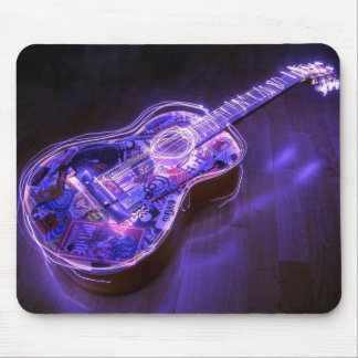 Light painting : guitar - mouse pad