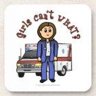 Light Paramedic Girl Beverage Coaster