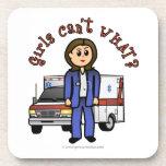 Light Paramedic Girl Drink Coaster