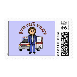 Light Paramedic Girl Postage