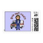 Light Paramedic Girl Postage Stamps