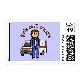 Light Paramedic Girl Stamp